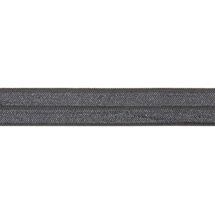 Fold Over Elastic - Dark Grey, 16mm - The Village Haberdashery