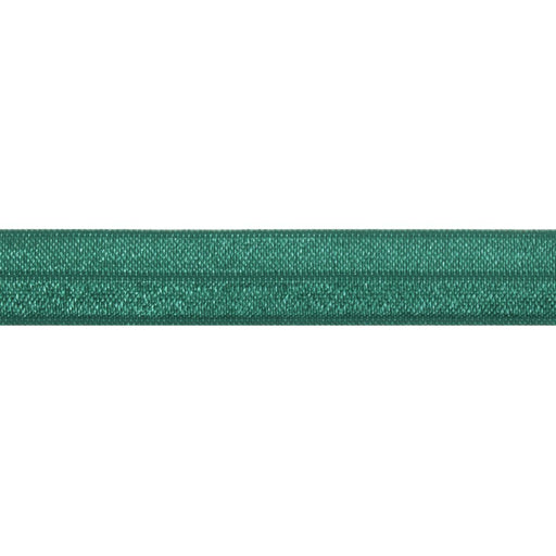 Fold Over Elastic - Forest Green, 16mm - The Village Haberdashery