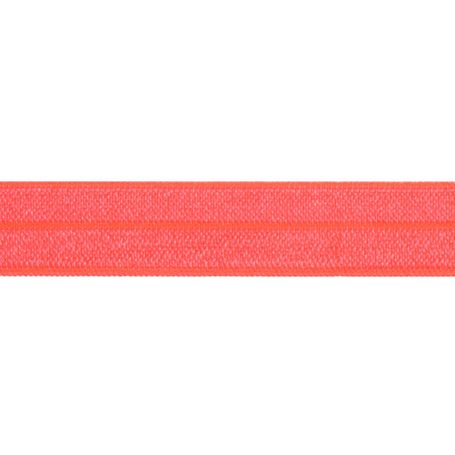 Fold Over Elastic - Neon Coral, 16mm - The Village Haberdashery