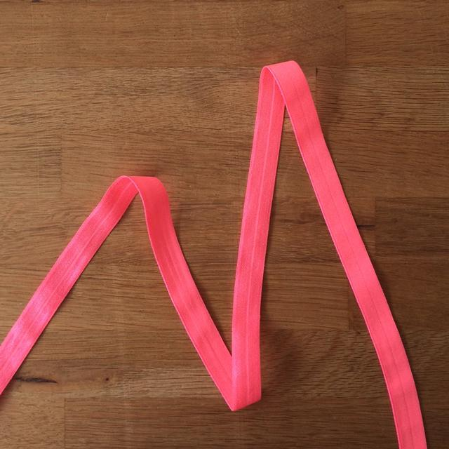 Fold Over Elastic - Neon Pink, 16mm - The Village Haberdashery