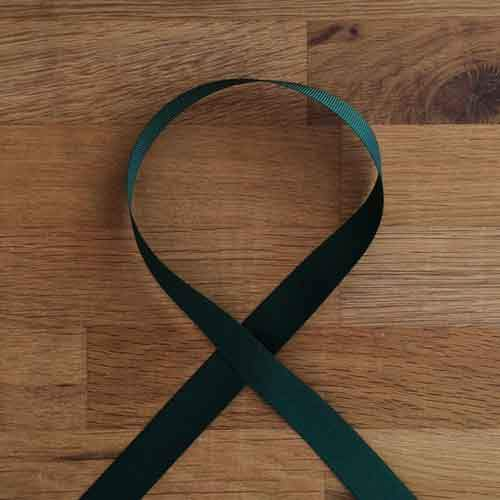 Grosgrain Ribbon - Forest, 16mm - The Village Haberdashery