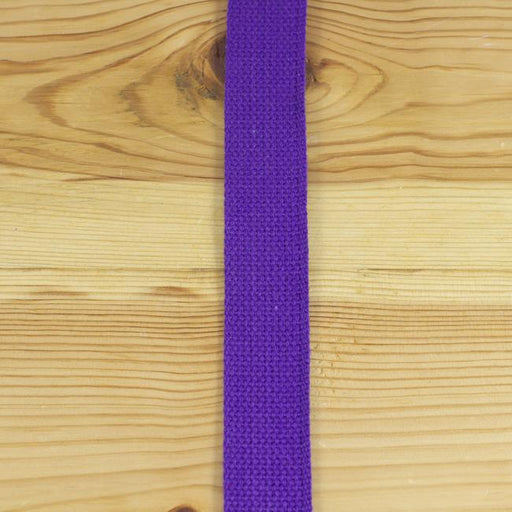 Heavyweight Cotton Webbing - Purple - The Village Haberdashery