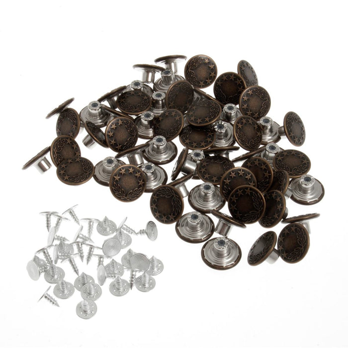 Jeans Buttons - Bronze - The Village Haberdashery