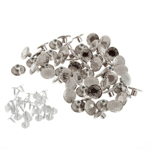 Jeans Buttons - Nickel - The Village Haberdashery