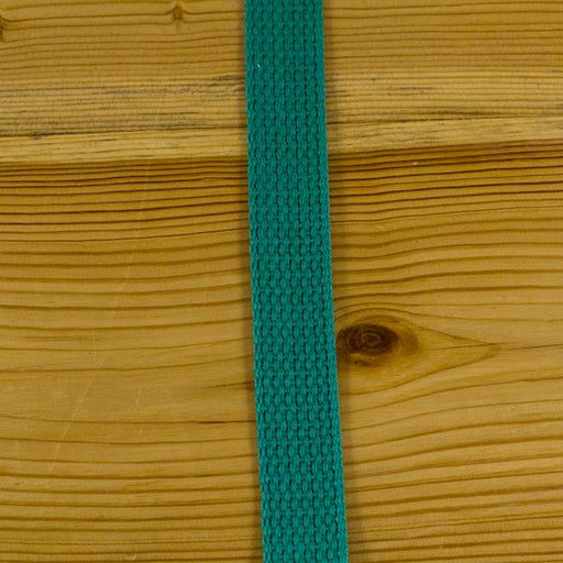 Lightweight Cotton Webbing - Kelly Green - The Village Haberdashery