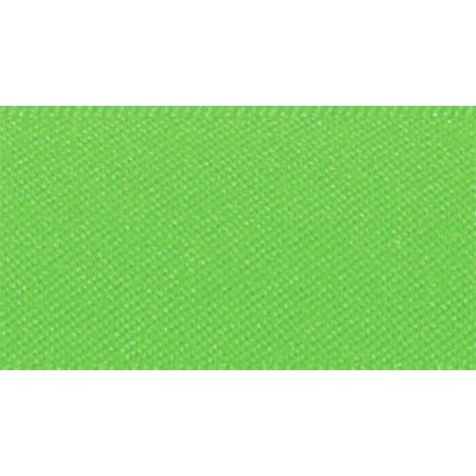 Satin Ribbon - Fluorescent Green - 15mm - The Village Haberdashery