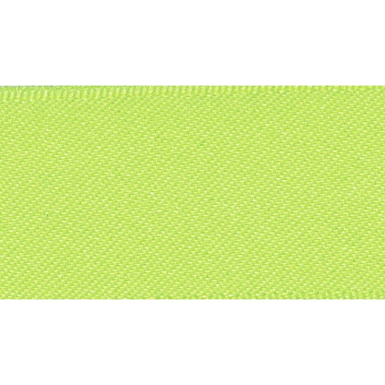 Satin Ribbon - Fluorescent Yellow - 15mm - The Village Haberdashery