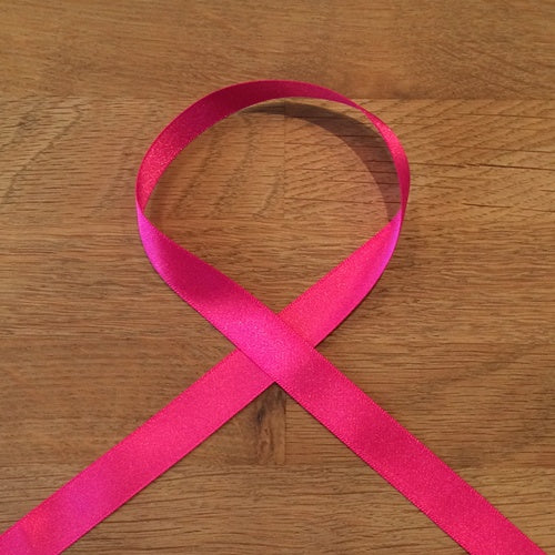 Satin Ribbon - Shocking Pink, 15mm - The Village Haberdashery