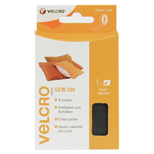 Sew-on Velcro - Black - The Village Haberdashery