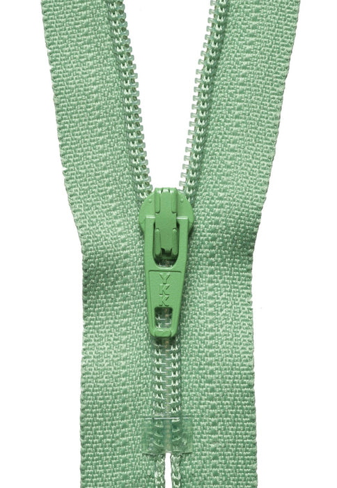 "YKK 14"" Standard Zip - Sage 100 - The Village Haberdashery"