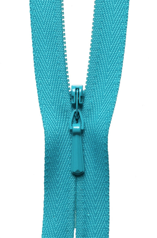 "YKK 16"" Invisible Zip - Dark Turquoise 370 - The Village Haberdashery"