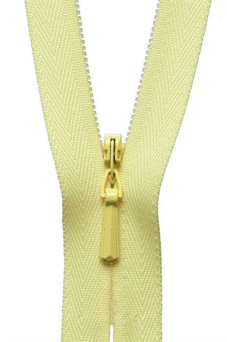 "YKK 16"" Invisible Zip - Lemon 503 - The Village Haberdashery"