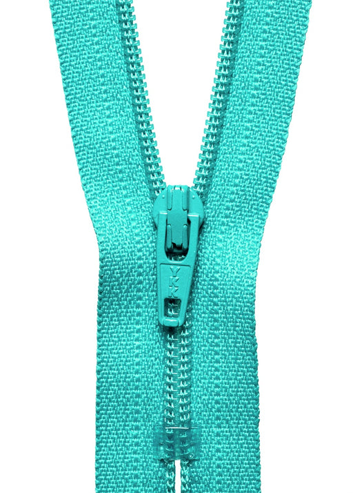 "YKK 18"" Standard Zip - Dark Turquoise 370 - The Village Haberdashery"
