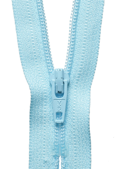 "YKK 18"" Standard Zip - Light Blue 026 - The Village Haberdashery"