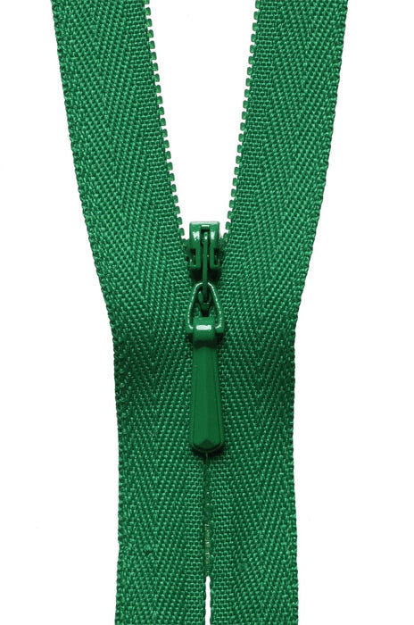 "YKK 22"" Invisible Zip - Bottle Green 876 - The Village Haberdashery"