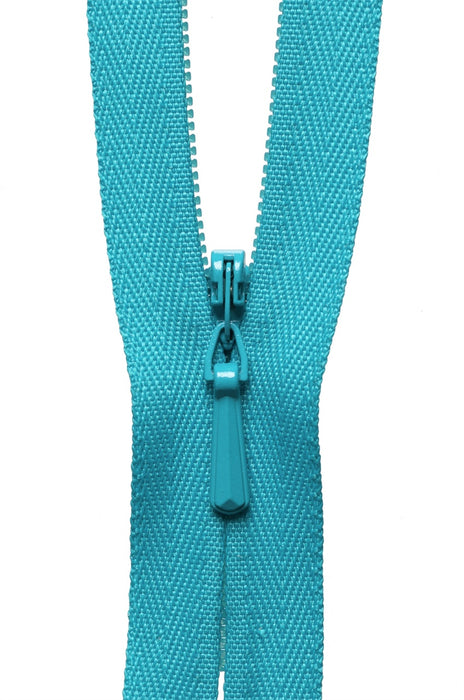 "YKK 22"" Invisible Zip - Dark Turquoise 370 - The Village Haberdashery"