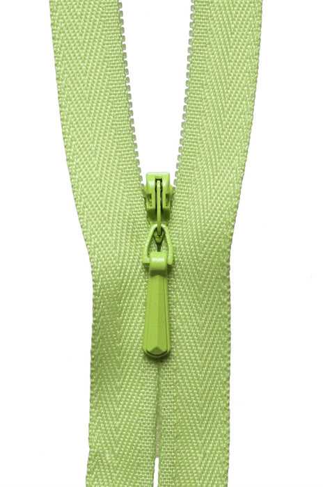 "YKK 22"" Invisible Zip - Light Meadow 874 - The Village Haberdashery"