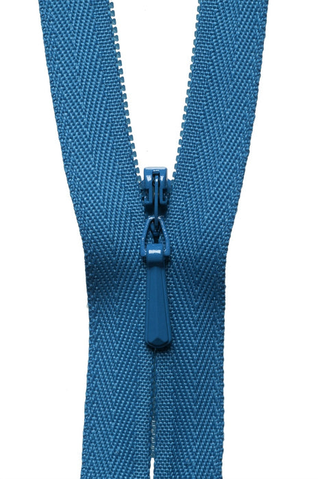 "YKK 22"" Invisible Zip - Saxe Blue 557 - The Village Haberdashery"