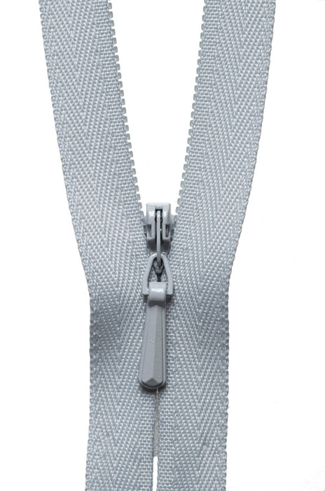 "YKK 22"" Invisible Zip - Silver 336 - The Village Haberdashery"