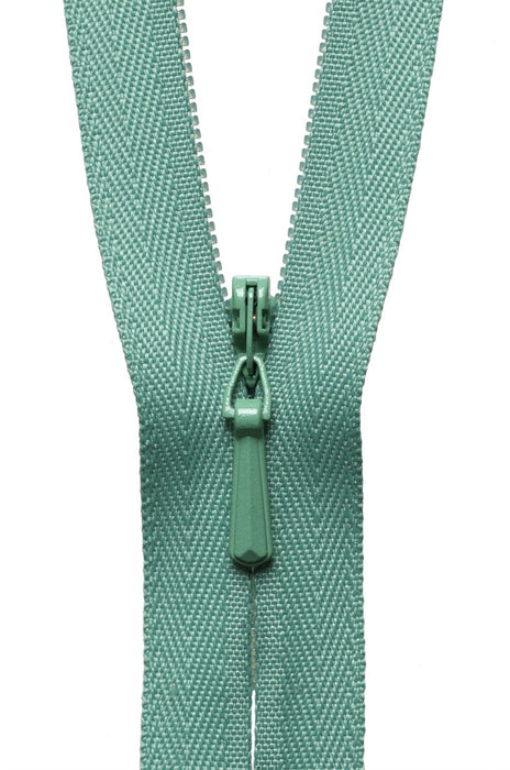 "YKK 9"" Invisible Zip - Dark Mint 004 - The Village Haberdashery"