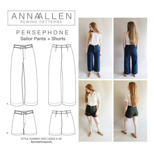 AnnaAllen - Persephone Pants and Shorts - PDF - The Village Haberdashery