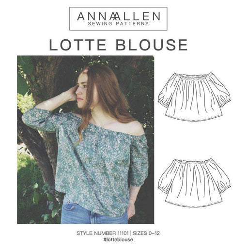 AnnaAllen - Lotte Blouse Off-The-Shoulder - PDF - The Village Haberdashery