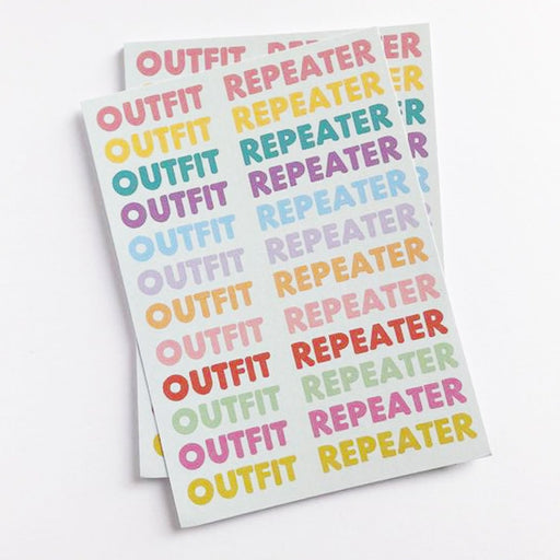 Outfit Repeater A5 Art Print by That's Pretty Major - The Village Haberdashery