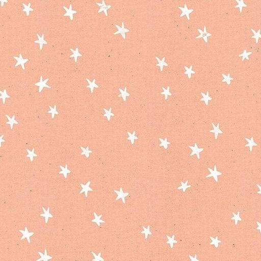 Peach Stars Cotton from Little Darlings by Alexia Abegg - The Village Haberdashery