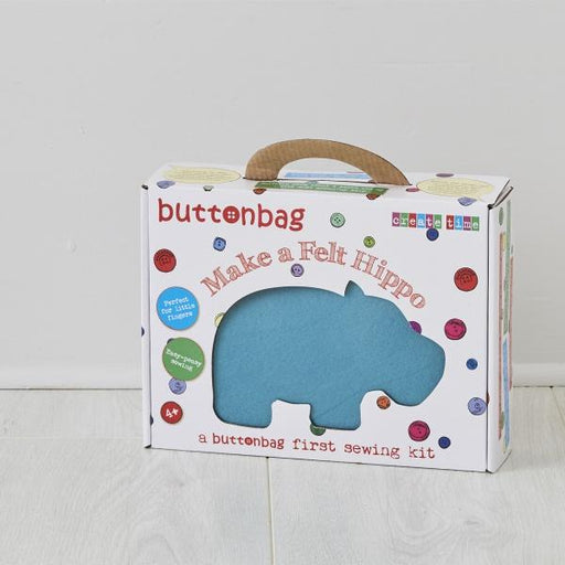 Buttonbag First Sewing Kit: Hippo - The Village Haberdashery