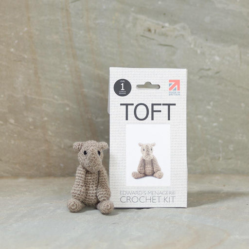 TOFT Mini Crochet Amigurumi Kit: Austin the Rhino - The Village Haberdashery