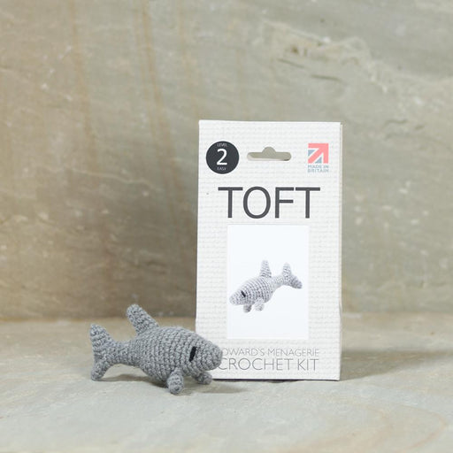 TOFT Mini Crochet Amigurumi Kit: Kai the Shark - The Village Haberdashery