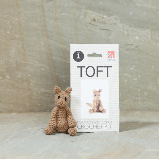TOFT Mini Crochet Amigurumi Kit: Sheila the Kangaroo - The Village Haberdashery