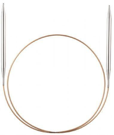 Addi Brass Circular Knitting Needles - 4.5mm x 60cm - The Village Haberdashery
