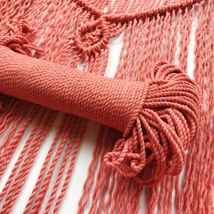 Wool Couture Cotton Macrame Rope - 3mm Coral - The Village Haberdashery