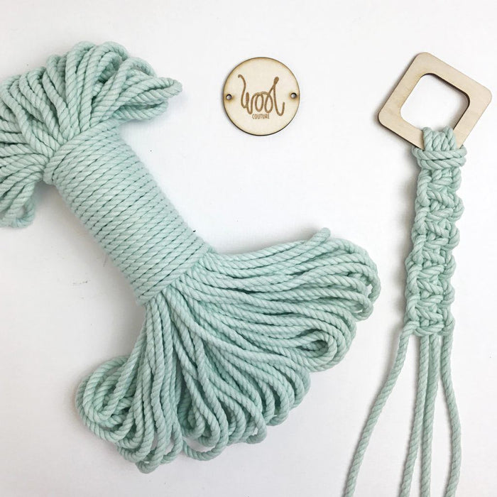 Wool Couture Cotton Macrame Rope - 5mm Aqua - The Village Haberdashery