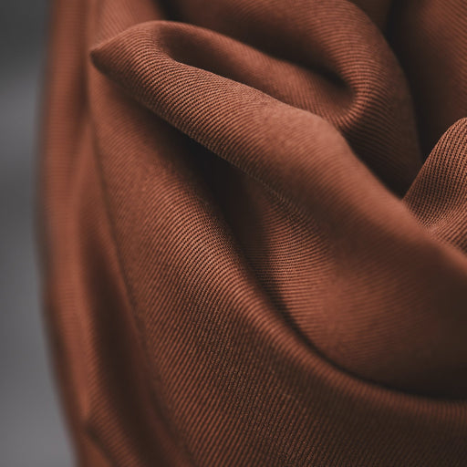 Pecan Smooth Drape Twill Made with TENCEL™ Fibres by MeetMilk - The Village Haberdashery