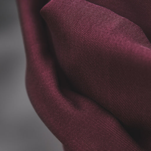 Maroon Smooth Drape Twill Made with TENCEL™ Fibres by MeetMilk - The Village Haberdashery