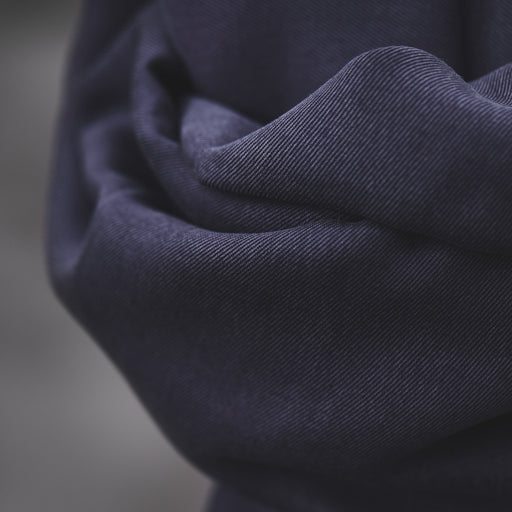 Blueberry Smooth Drape Twill Made with TENCEL™ Fibres by MeetMilk - The Village Haberdashery