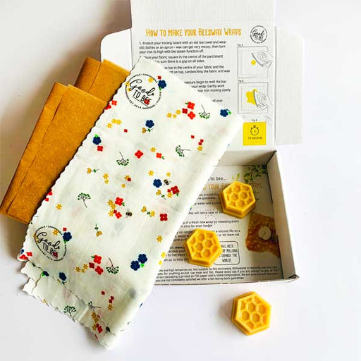 Make Your Own Ditsy Beeswax Wraps Kit by Good to Bee - The Village Haberdashery