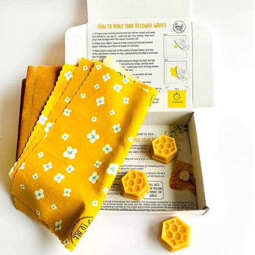 Make Your Own Yellow Daisy Beeswax Wraps Kit by Good to Bee - The Village Haberdashery