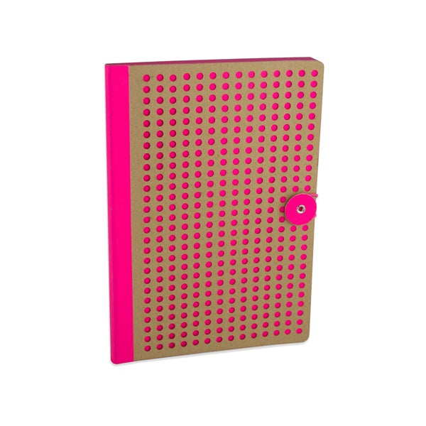 Laser Cut Neon Pink Notebook - The Village Haberdashery