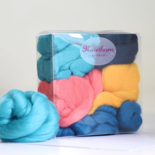 Felting & Spinning Wool - Ocean Merino Bundle - The Village Haberdashery