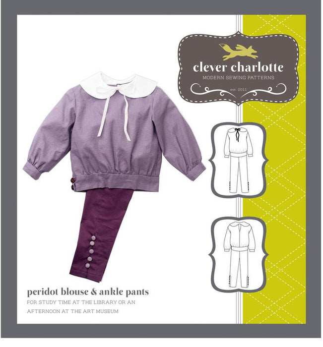Clever Charlotte - Peridot Blouse and Ankle Trousers - The Village Haberdashery