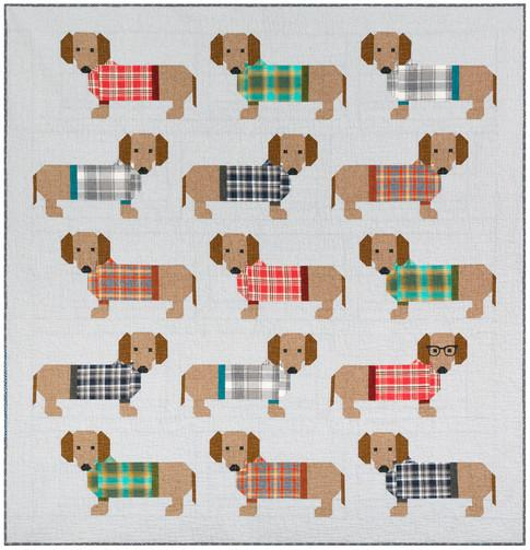Elizabeth Hartman - Dogs in Sweaters Quilt Pattern - The Village Haberdashery