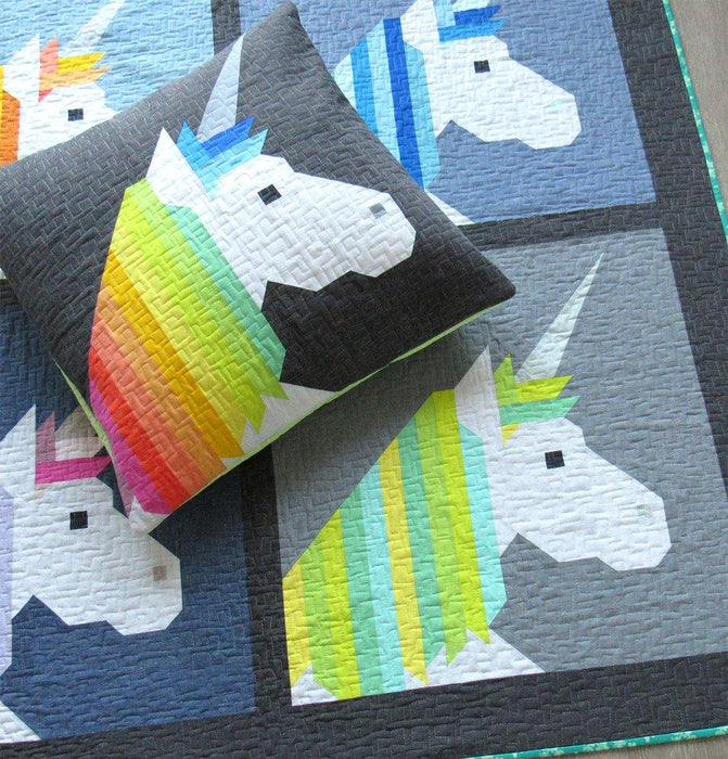 Elizabeth Hartman - Lisa the Unicorn Quilt and Pillow Pattern - The Village Haberdashery