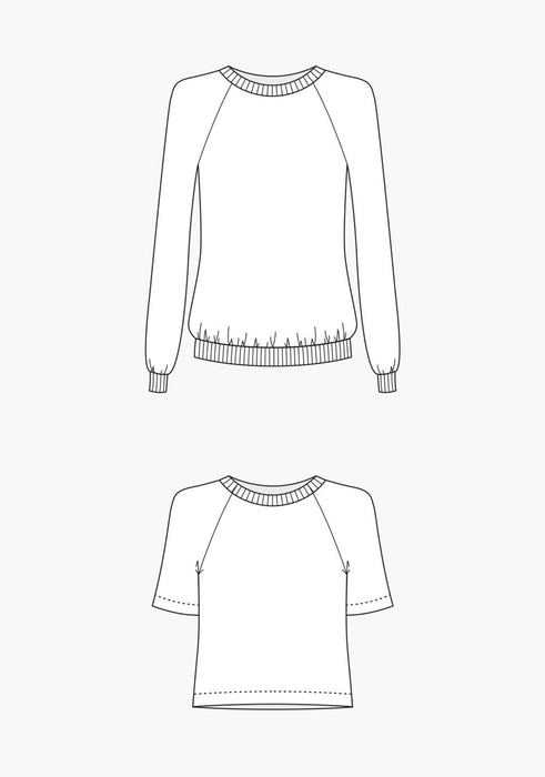 Grainline - Linden Sweatshirt - The Village Haberdashery