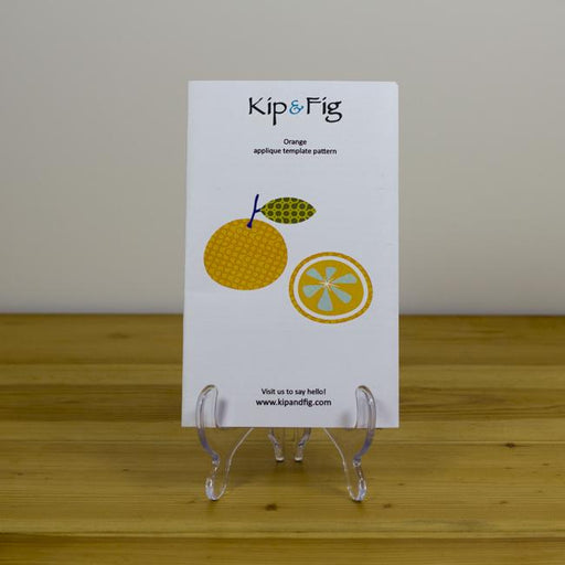 Kip & Fig - Orange Appliqué Template - The Village Haberdashery
