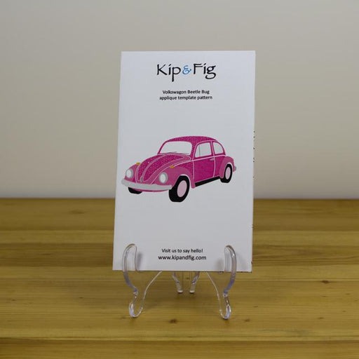 Kip & Fig - Volkswagon Beetle Appliqué Template - The Village Haberdashery