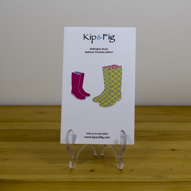 Kip & Fig - Wellington Boots Appliqué Template - The Village Haberdashery