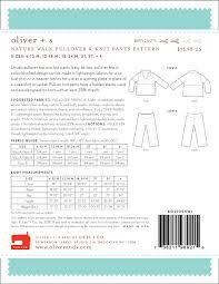 Oliver + S - Nature Walk Pullover and Knit Trousers Pattern in Small - PDF - The Village Haberdashery